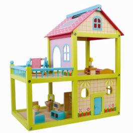 בית בובות צבעוני מעץ